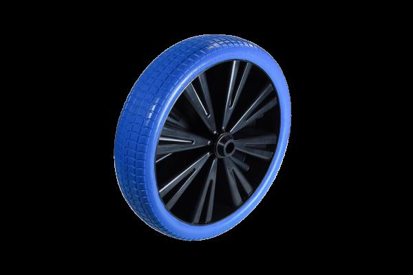 Flex Lite Ersatzrad - PU Schubkarrenrad 370 Blau Gleitlager