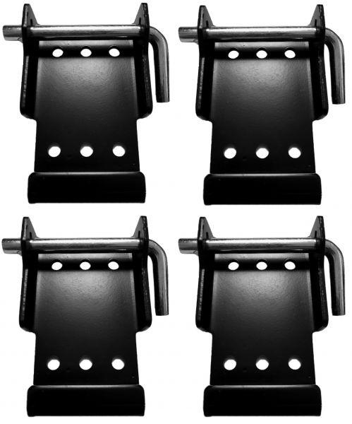 Schnellanbringungsplatten Adapter Hublenkrollenhalterung Workbenchcaster Set(4)