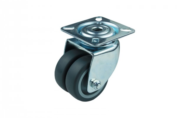 Apparatedoppelrolle Lenkrolle Gleitlager Thermoplast 50 mm