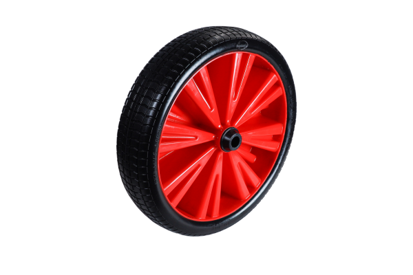 Flex Lite Ersatzrad - PU Schubkarrenrad 370 Rot Gleitlager