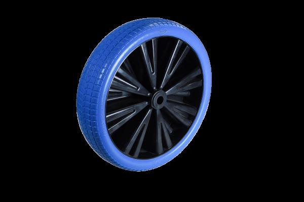 Flex Lite Ersatzrad - PU Schubkarrenrad 370 Blau Rollenlager