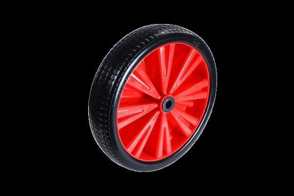 Flex Lite Ersatzrad - PU Schubkarrenrad 370 Rot Rollenlager